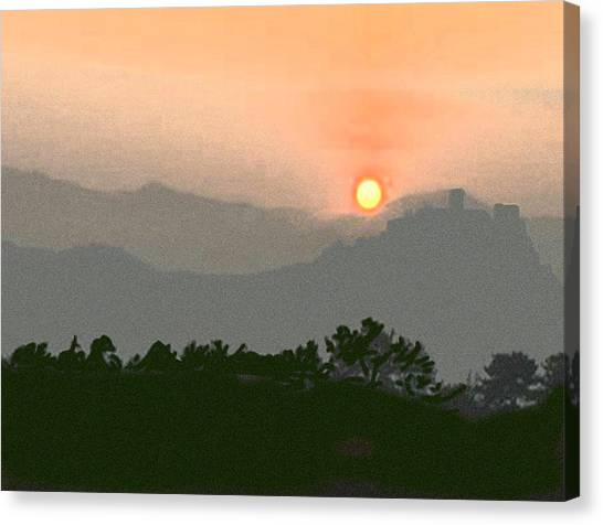 The Hills Of Aragon Canvas Print