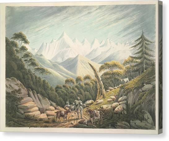 Himalayas Canvas Print - The Himalaya Or Snowy Range by British Library
