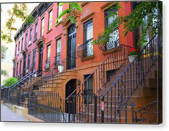 The Historic Brownstones Of Brooklyn Canvas Print
