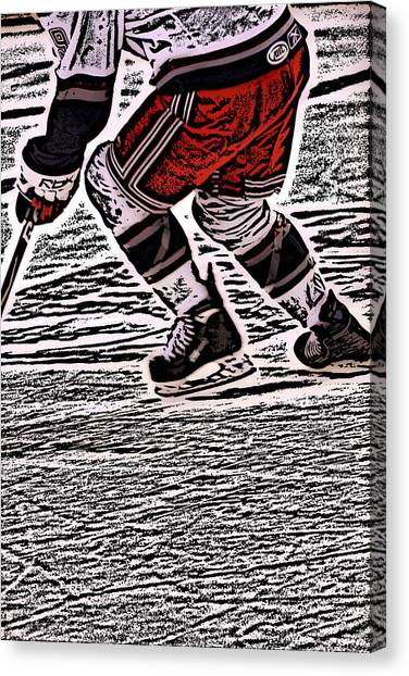 Hockey Players Canvas Print - The Hockey Player by Karol Livote