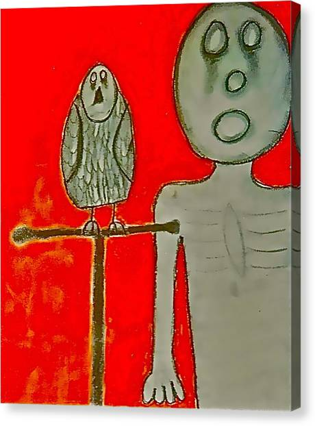 The Hollow Men 88 - Bird Canvas Print