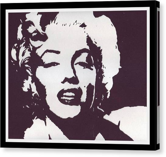 Papercut Canvas Print - The Hollywood Goddess by Bernie Levine