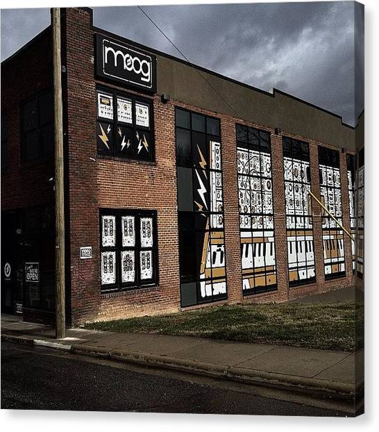 Synthesizers Canvas Print - The Home For @moogmusic In #asheville by Blaine Prickett