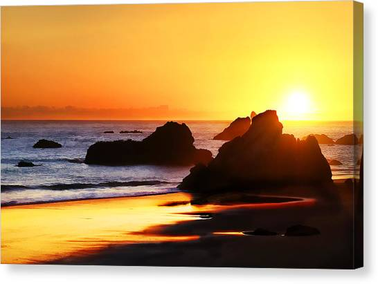 The Honeymoon Sunset  Canvas Print