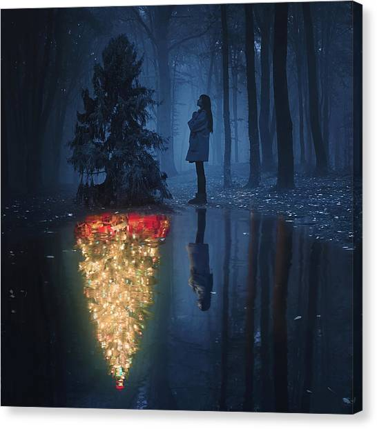 Conceptual Art Canvas Print - The Hope Of Christmas by Terry F