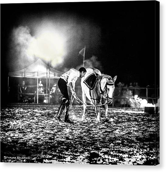 Canvas Print featuring the photograph The Horse That Suffered  by Stwayne Keubrick