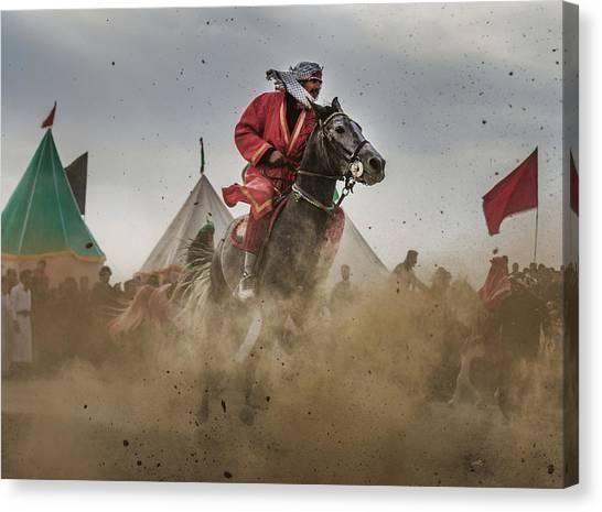 Ace Canvas Print - The Horseback Rider 2 by Babak Mehrafshar (bob)