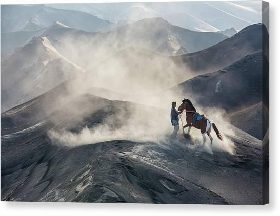 Dust Canvas Print - The Horseman by Gunarto Song