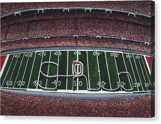 Ohio State University Canvas Print - The Horseshoe by Meghan Coyle