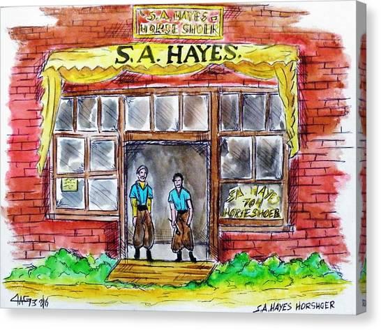 The Horseshoer Canvas Print