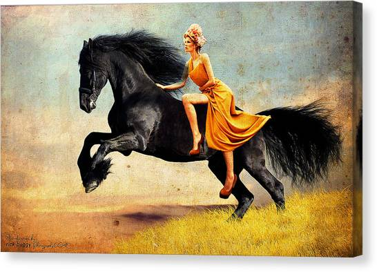 The Horsewoman Canvas Print by Rick Buggy