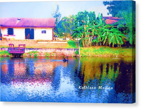 The House Across The Way Canvas Print