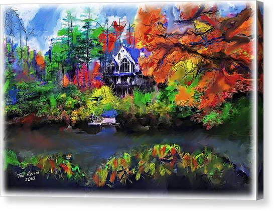 The House At Highlands Canvas Print