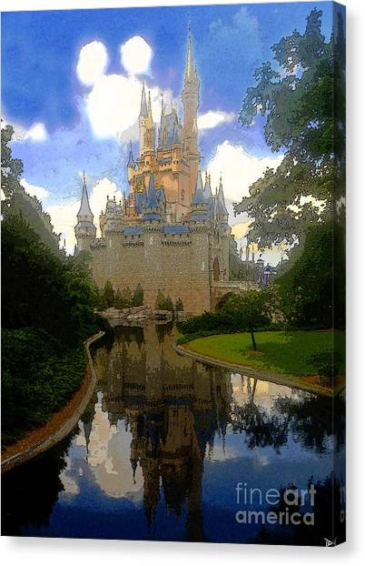The House Of Cinderella Canvas Print