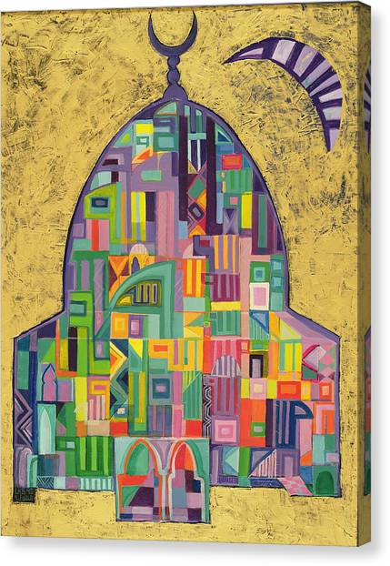 House Of Worship Canvas Print - The House Of God II, 1993-94 Acrylic On Canvas by Laila Shawa