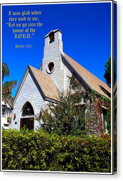 The House Of The Lord Canvas Print by Glenn McCarthy Art and Photography