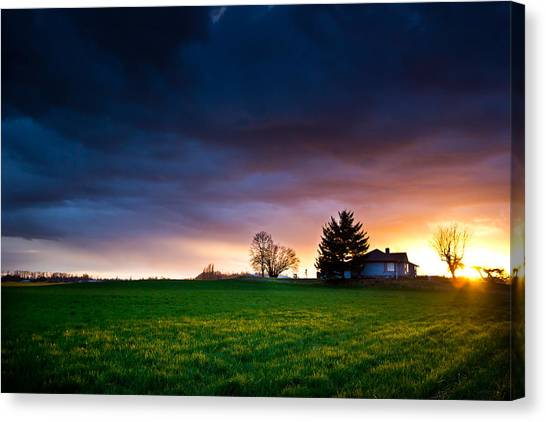 The House Of The Rising Sun Canvas Print