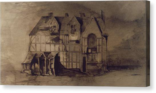 Murky Canvas Print - The House Of William Shakespeare by Victor Hugo