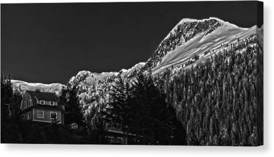 The House On The Hill. Canvas Print