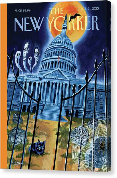 Republican Politicians Canvas Print - The House Republicans Haunt The Captiol Building by Mark Ulriksen