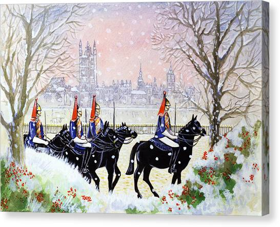 Royal Guard Canvas Print - The Household Cavalry by Tony Todd