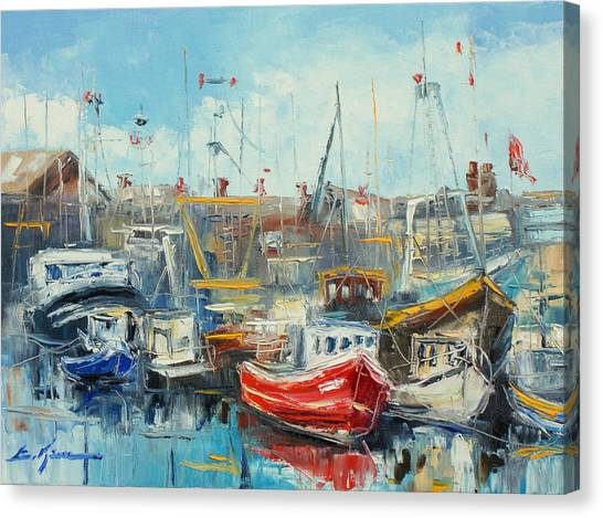 The Howth Harbour Canvas Print