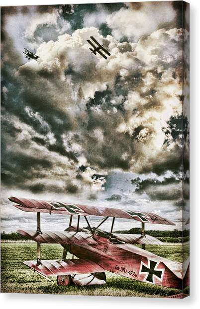 Biplane Canvas Print - The Hunter by Peter Chilelli