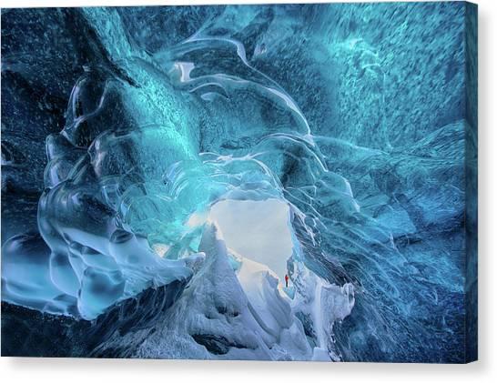 Vatnajokull Glacier Canvas Print - The Ice Cave by Trevor Cole