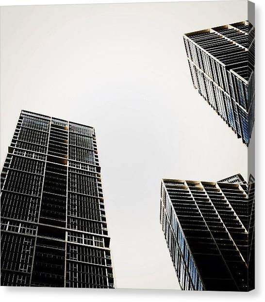 Skylines Canvas Print - The Icon Bldg. Complex - Miami by Joel Lopez