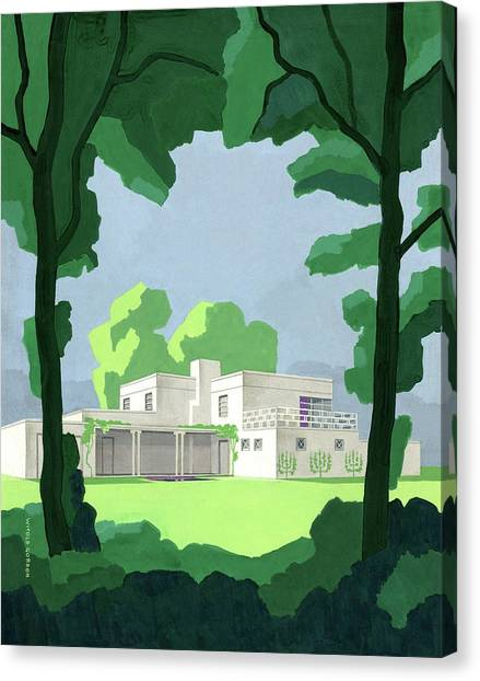 The Ideal House In House And Gardens Canvas Print