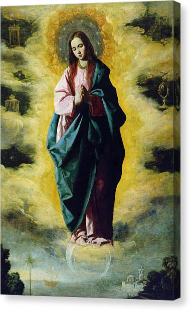 Immaculate Canvas Print - The Immaculate Conception by Francisco de Zurbaran