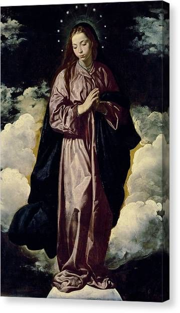 Immaculate Canvas Print - The Immaculate Conception by Diego Rodriguez de Silva y Velazquez
