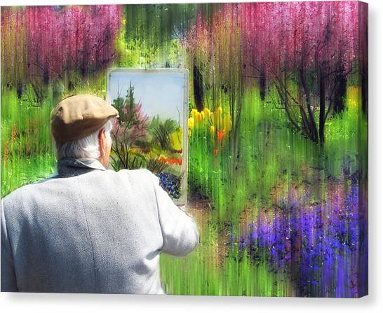 Impressionistic Canvas Print - The Impressionist Painter by Jessica Jenney