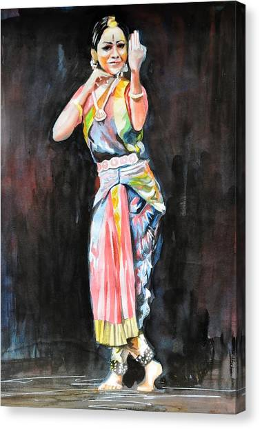 The Indian Dancer Canvas Print