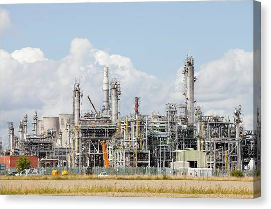 Climate Change Canvas Print - The Ineos Oil Refinery In Grangemouth by Ashley Cooper