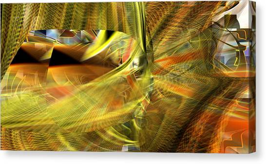 Canvas Print featuring the digital art The Inner Workings by rd Erickson
