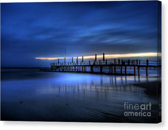 The Innocent White In Blue Canvas Print