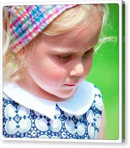 Innocent Canvas Print - The Inquisitive Look #child #girl by Luis Aviles