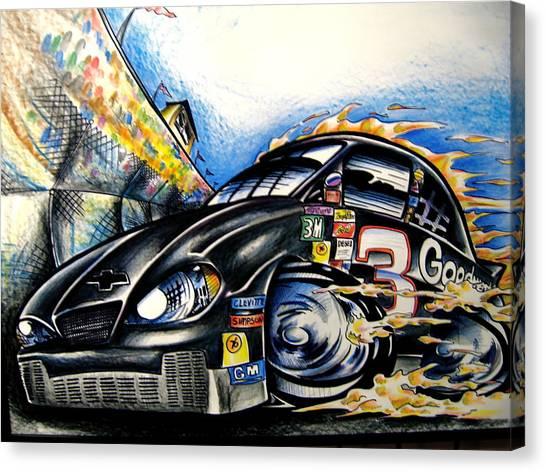 Daytona 500 Canvas Print - The Intimidator by Big Mike Roate