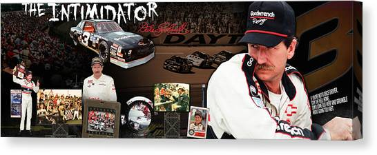 Finish Line Canvas Print - The Intimidator Dale Earnhardt Panoramic by Retro Images Archive