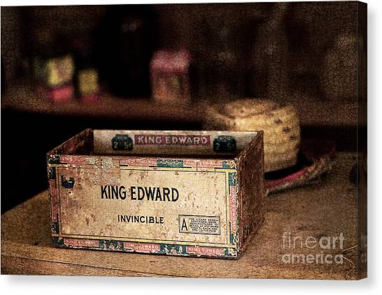 The Invincible King Edward Cigar Canvas Print