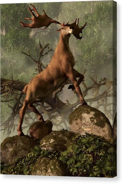 The Irish Elk Canvas Print