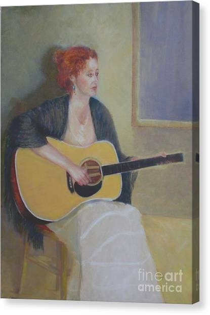 The Irish Singer    Copyrighted Canvas Print by Kathleen Hoekstra