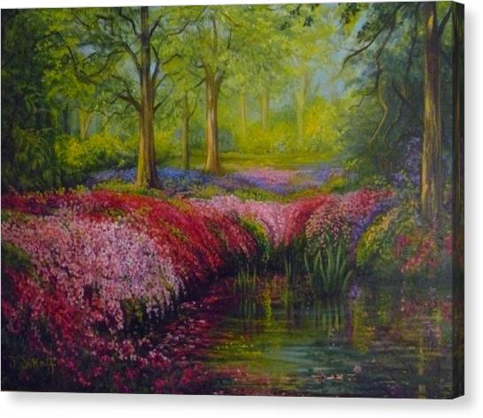 The Isabella Plantation Canvas Print by Janet Silkoff