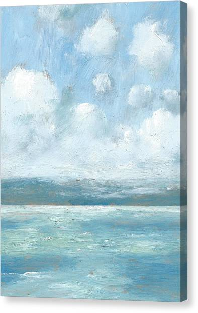 The Isle Of Wight From Portsmouth Part Six Canvas Print by Alan Daysh