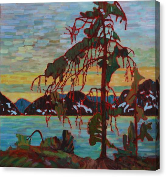 The Jack Pine After Tom Thomson Canvas Print