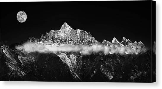 Mountain Ranges Canvas Print - The Jade Belt by Selinos