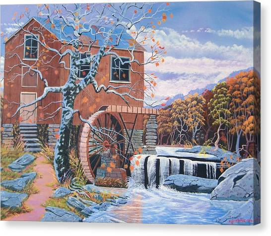 The Jamestown Mill Canvas Print by Seth Wade