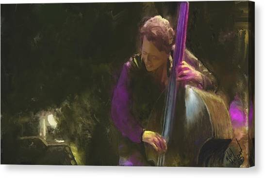 The Jazz Bassist Canvas Print