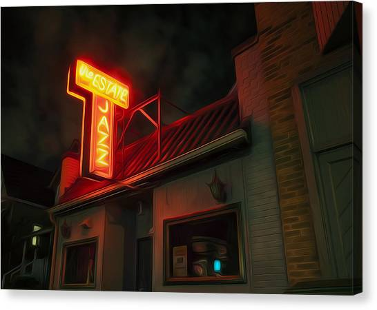 Clubs Canvas Print - The Jazz Estate by Scott Norris